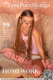 Cute teenie in high socks stripping and posing on a couch and showing off her pink pussy.
