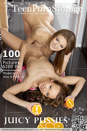 Two delicious teen babes embrace the burning lust they feel towards each others beautiful and shapely naked body.